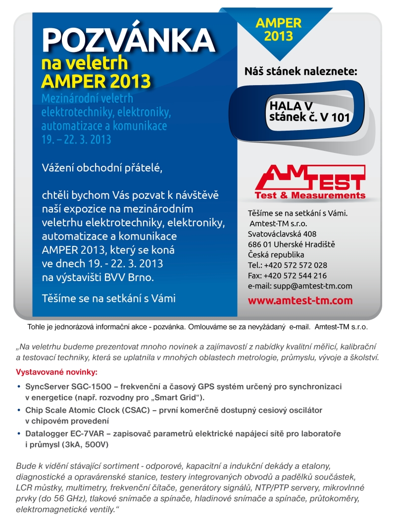 Invitation For Exhibition Booth : Amtest tm invitation letter amper v