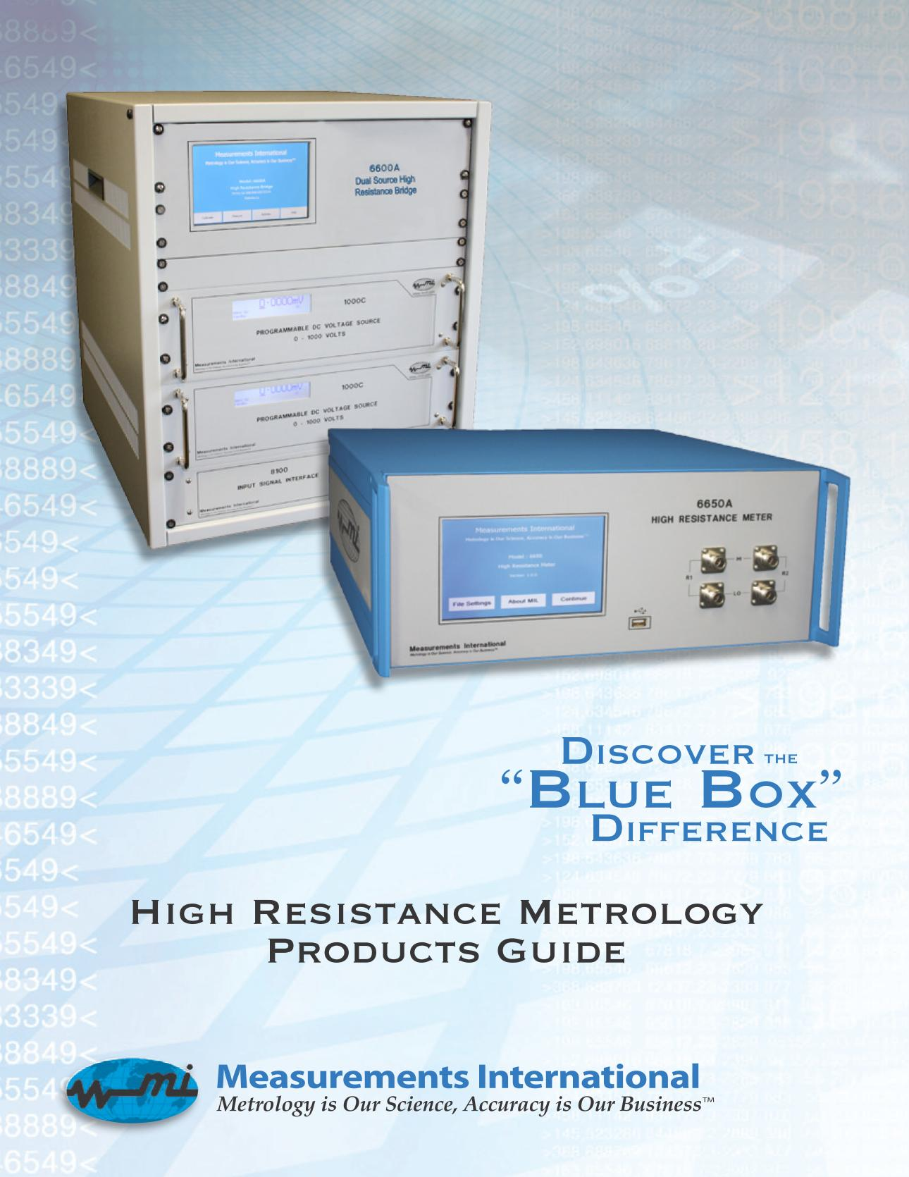 High Resistance Metrology Products Guide