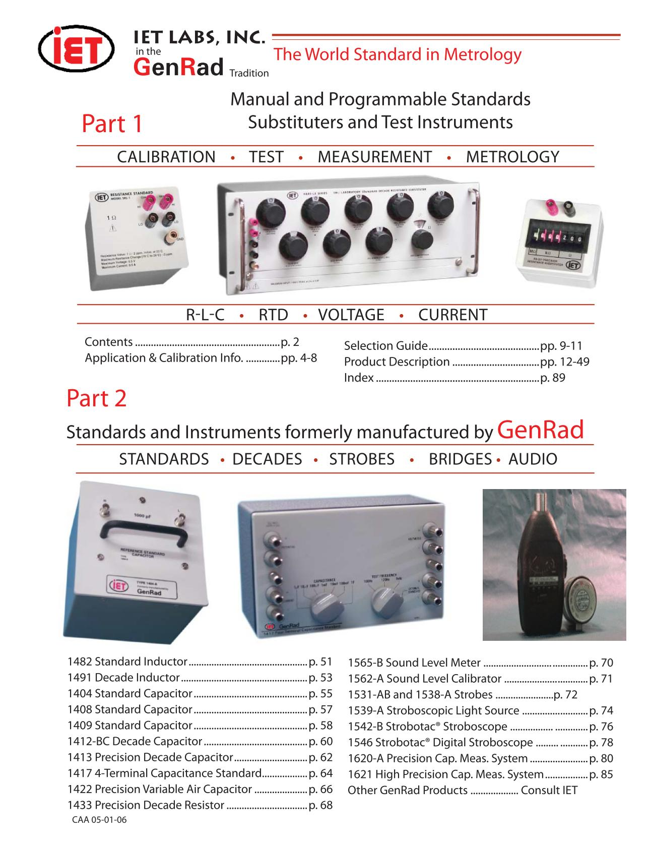 Catalogue IET Labs